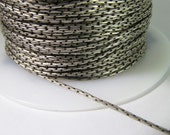 5 Feet Matte Antiqued Silver-Plated 1mm Beading Chain Ch225