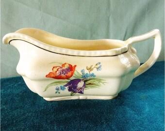 Beautiful Vintage Gravy Boat Steubenville Ivory