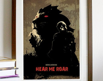 Games of Thrones - HOUSE LANNISTER - Hear Me Roar Poster Print