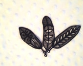 Set of 3 Lace Black Feathers, Flight of Fancy. Eagle Feather, Raven Feather