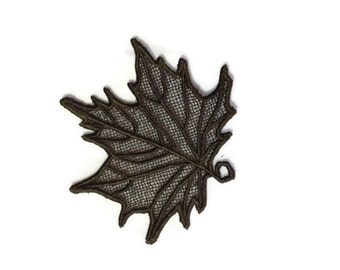1 Lace leaf, Perfect for Fall Wedding Favors, Bookmark or  Thoughtful gift.