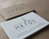Letterpress Business Cards, on Natural White Cotton stock // made to order - set of 100