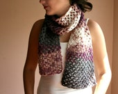 Chunky Multicolor Long Scarf  - Crochet Scarf - Cowl - Neckwarmer - Wrap - Spring Fall Winter Fashion - Women Teens Accessorie