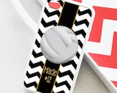 Volleyball Chevron iPhone Case - Monogrammed Volleyball iPhone Case - iPhone 4 Case - iPhone 5 Case - iPhone 5s Case