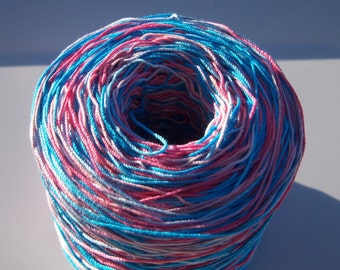 Crochet Cotton - Size 10 - Hand Dyed - Circus Train II - Project Size - 150, 200, 250 or 300 Yards
