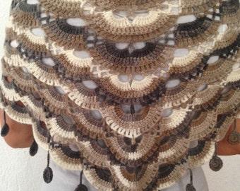 Crochet Colorful Shawl - Neck Warmer - Ready for Worldwide Shipping