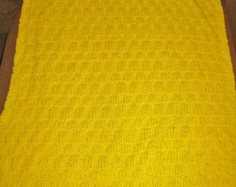 Sunshine Yellow Baby Blanket