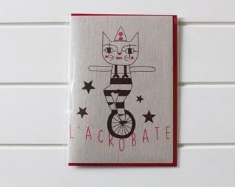 Greetings Card - L'acrobate