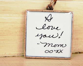 Handwriting Keychain - Custom Signature Keychain - Memorial Keychain - Loved Ones Handwriting - Fathers Day - Mothers Day