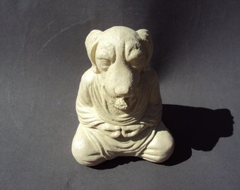 Meditating Dog, Beautiful Natural Cement Stone