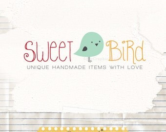 Premade Logo Cute Bird Logo Business Logo and Watermark