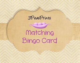Custom Matching Baby Shower Bingo Game Cards Printable Digital File