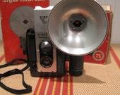 vintage argus argoflex camera and flash with boxes