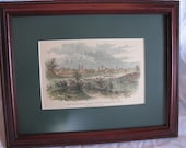 Antique Print Engraving of Matamoros, Mexico from a sketch by L. Avery in Leslie's Illustrated Newspaper (1863)