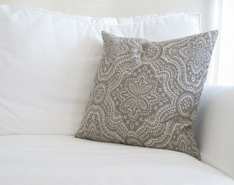 decorative pillows, 18 inch decorative pillows, pillow covers, neutral pillows, cushion covers, 18x18 in pillow, neutral grey couch pillow