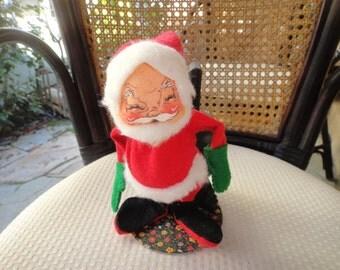 Vintage Annalee Doll Santa Claus Warming Himself By Stove 1963 #4904