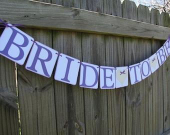 Bride To Be, Bridal Shower, Engagement Party Decor, Wedding Banner, Engagement Banner, Purple Wedding Decor