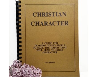 Vintage Christian Character Book by Gary Maldaner 1990 plain path god godly youth young adult training sunday school ccd spiral bound