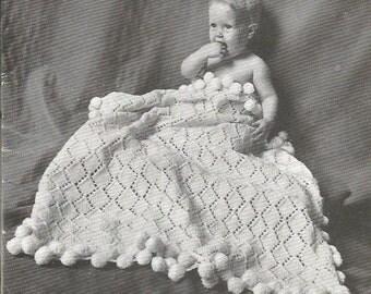 Knitting Pattern Knit Baby Blanket Pattern Instant Download