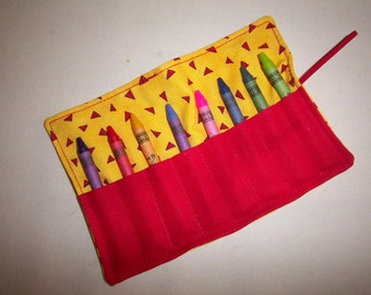 Confetti Crayon/Chalk Roll Holds 8 Crayons