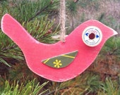 Reclaimed Wood Bird Ornament