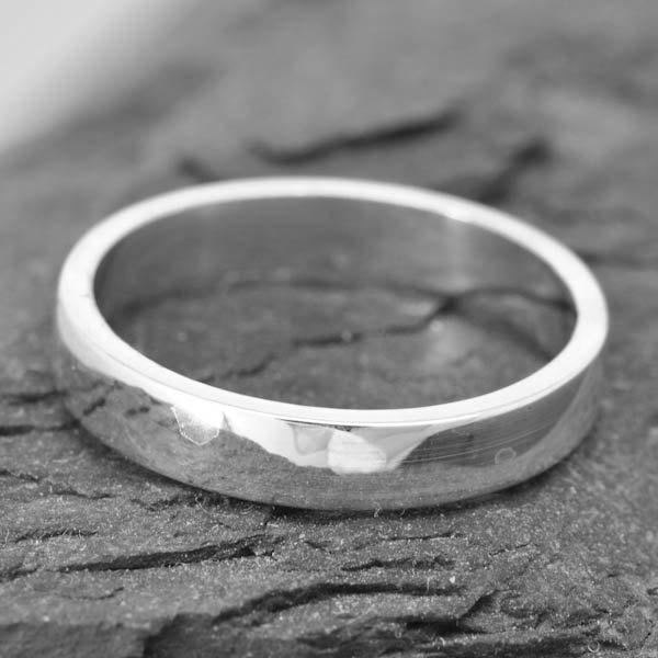 Mm White Gold Square Mens Ring