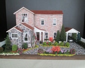 Reserved for Robyn Fiore - Asian-Inspired Furnished and Lanscaped Quarter Inch Scale Dollhouse