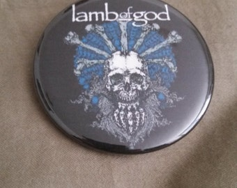 Lamb of God Metal Pinback Button 2.25""