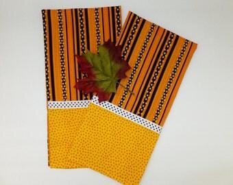 Black and Orange Halloween Dish Towel Set
