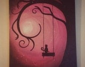 Pink Moon Painting