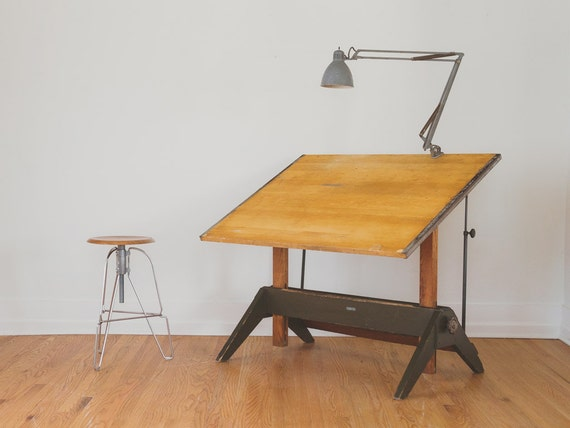 SALE Industrial Mayline Drafting Table