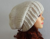 Sacking Winter Hat - Autumn Accessories - Slouchy Beanie Hat Oversized Hat - Chunky Knit  - Mens Slouchy  ANY COLOR slouchy knit hats