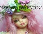 OOAK art doll fantasy mermaid girl polymer clay sculpture fairy july birthstone   IADR       free shipping