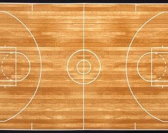Basketball Court Panel From Robert Kaufman