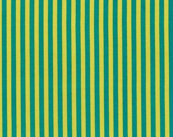 Teal Clown Stripes from Michael Miller