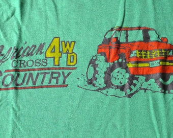 Vintage 1970 American 4WD Cross Country Green T-Shirt