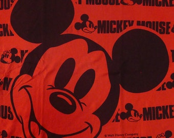 Vintage 80s Disney Mickey Mouse Red T-Shirt