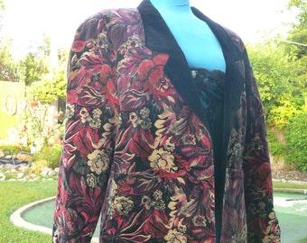 black pattern   jacket size 10