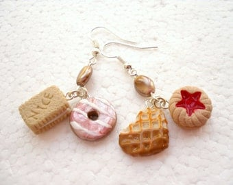 Cookie Earrings. Polymer Clay.