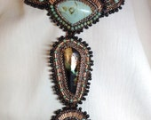 Aztec Blue created by Lynn Parpard One of a Kind Art Piece Lander county Nevada Turquoise