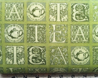 Short And Stout Tea Letters Green