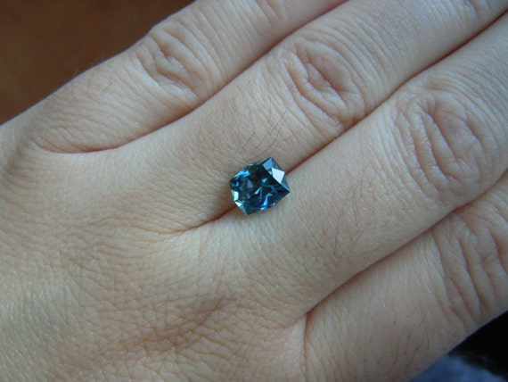 RESERVED: Gorgeous Fancy Montana Sapphire 2.06 carat Radiant Cut for Engagement Jewelry Right Hand Rings Pendants