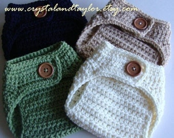 Crochet Diaper Cover, Choose Your Color, Baby, Newborn Diaper Cover, Navy Blue, Light Brown, Ivory, Light Green