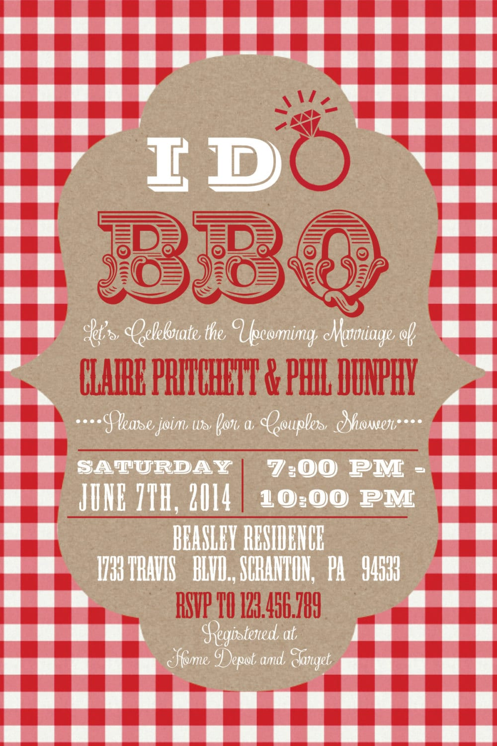 Printable I Do BBQ Barbecue Couples/Coed Wedding Shower or ...