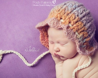 Crochet PATTERN - Crochet Hat Pattern - Crochet Patterns for Babies - Baby Bonnet Pattern - Baby, Toddler, Child, Adult Sizes - PDF 323