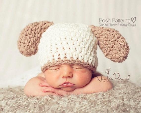 Crochet Baby Hat Patterns Dog : Baby Crochet Pattern Crochet PATTERN Puppy Dog by PoshPatterns