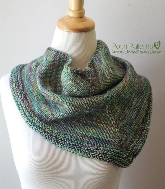 Knitting PATTERN - Knit Scarf Pattern - Knitting Patterns for Women - Infinit...