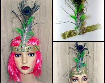 Burlesque ,charleston style Hair tie......The Great Gatsby ,1920/30th inspired