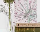 Flower Greetings Card - Giant Allium, blank card