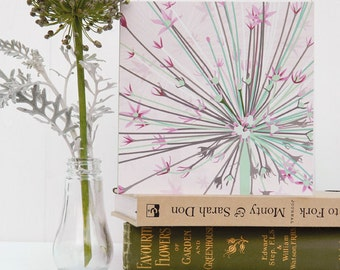 Flower Greetings Card - Giant Allium, blank, floral, birthday card